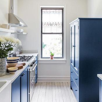 Blue Kitchen Armoire