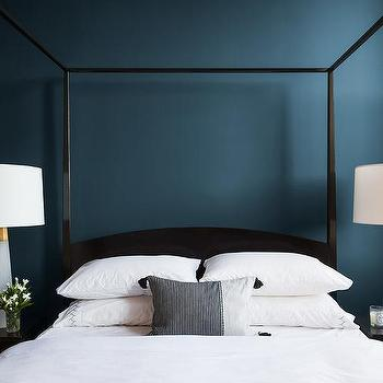 Deep Blue Bedroom Wall Paint Design Ideas