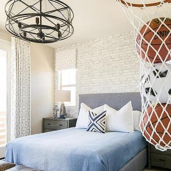 bedroom basketball hoop slumber room transitional boy s room tracy 10280