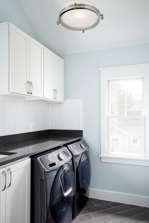 Laundry Room Accent Wall Black