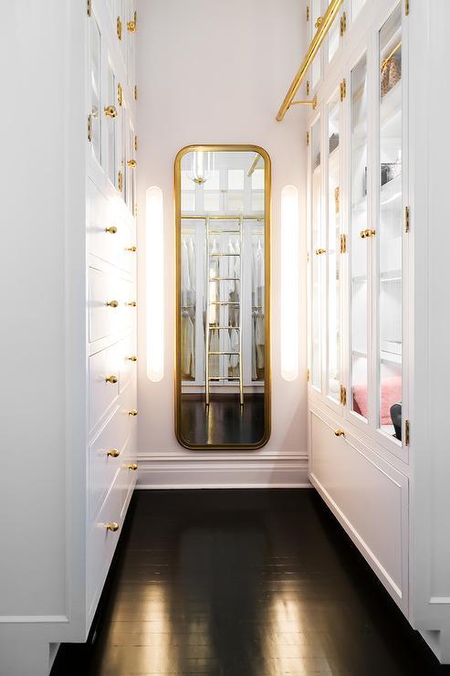 Brass Curved Mirror Design Ideas
