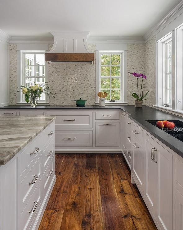 White And Gray Mosaic Kitchen Backsplash Tiles