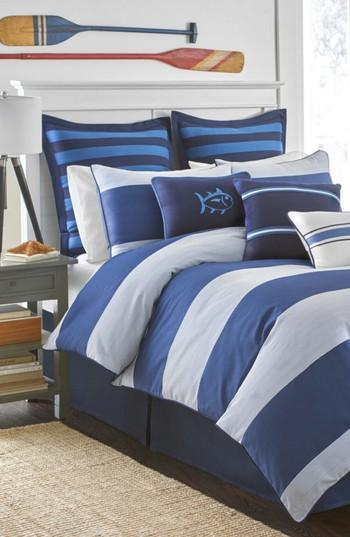 Southern Tide Dock Blue White Striped Street Bedding