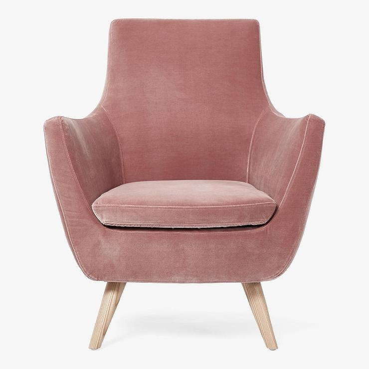 Slub Velvet Parker Armchair In Light Mint
