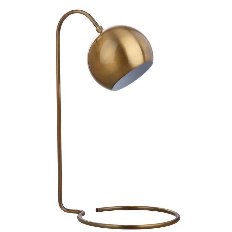 Bartolo brass curved neck task table lamp aloadofball Gallery