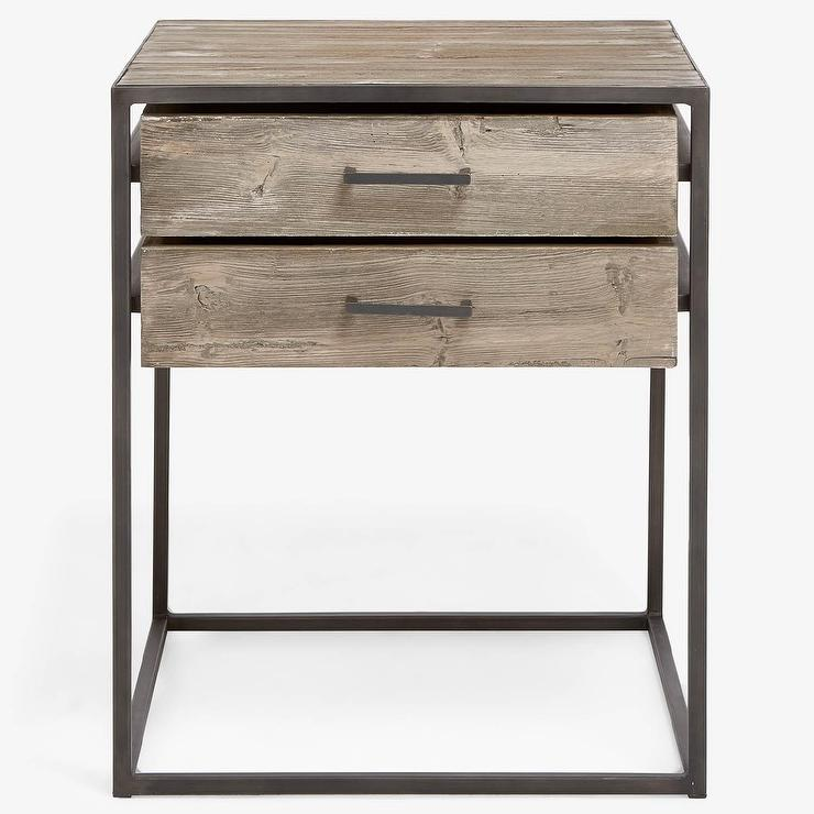 Reclaimed Pine Wood Tech Ready C Table