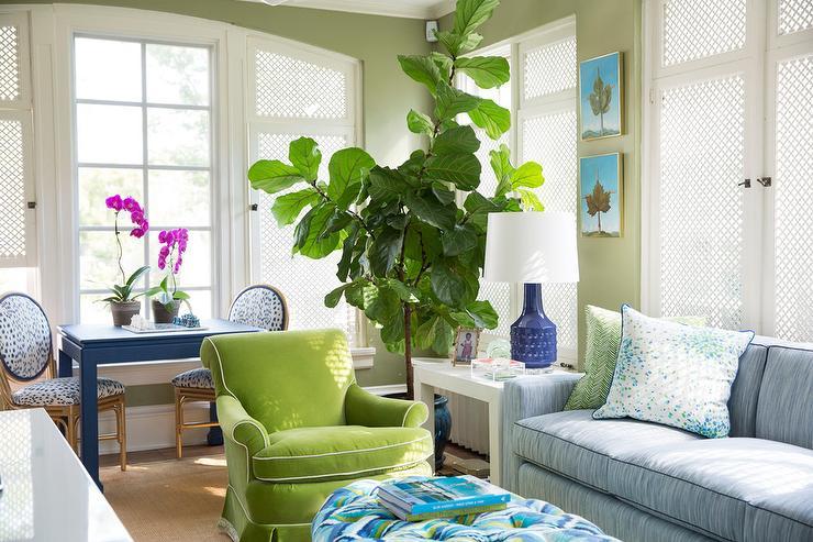 Green Velvet Sofa Eclectic Living Room Emily Henderson