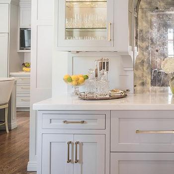 Custom Lit Wet Bar Cabinets Design Ideas