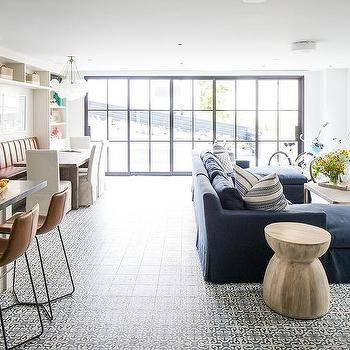 Open Floor Plan Living Transitional Living Room