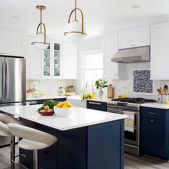 Navy Kitchen Island Design Ideas