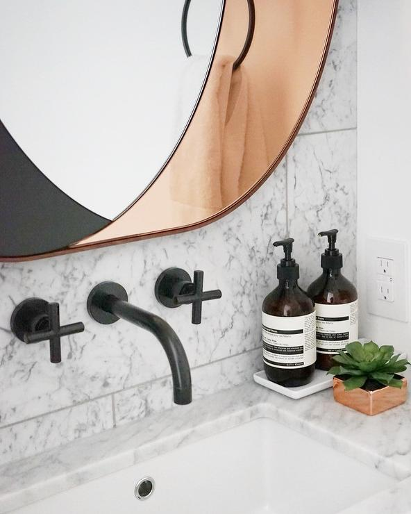 mount double amazing bathroom country and mounted wall handle faucet