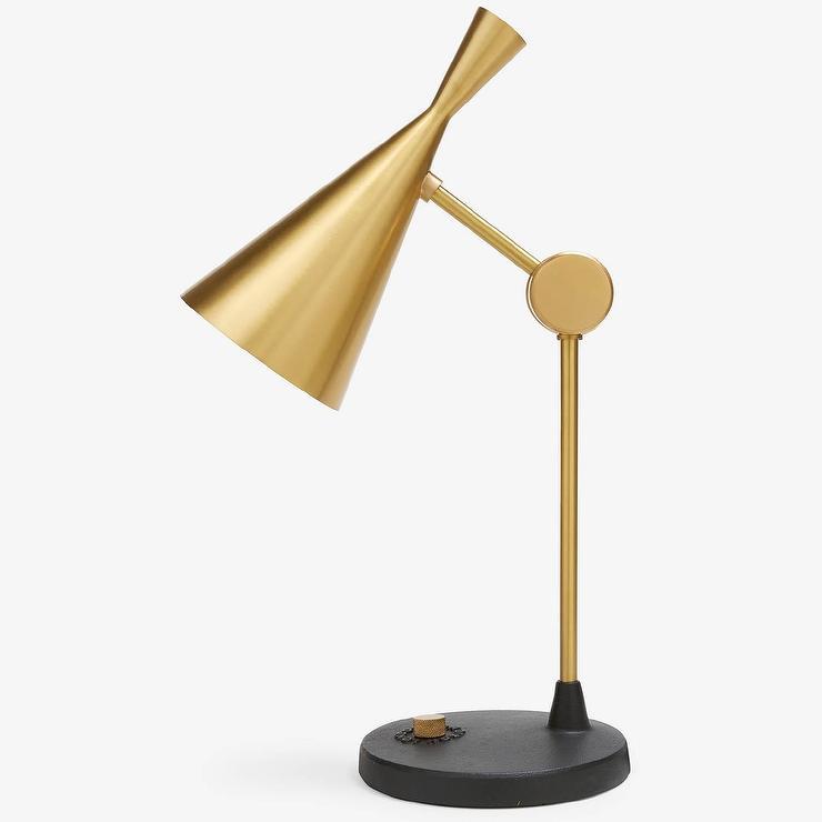 Tom dixon beat brass table lamp