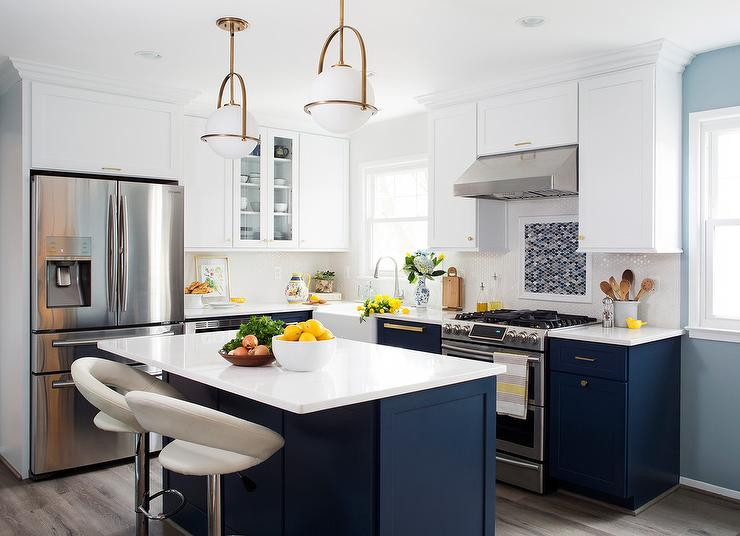 Navy Blue Kitchen Cabinets Design Ideas