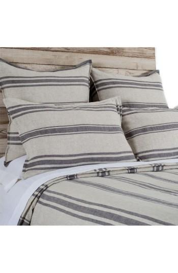 a2116051395 Thick n Thin Orange and Grey Stripe Duvet Cover and Shams