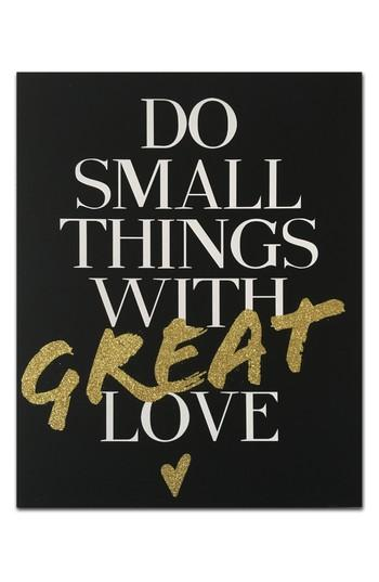 Do Small Things Great Love Canvas Wall Art