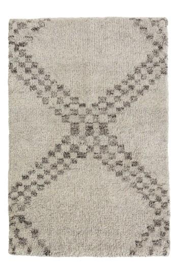 Threshold Cream Criss Cross Fleece Rug