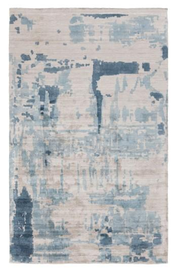 Nuage Abstract Gray Black Rug