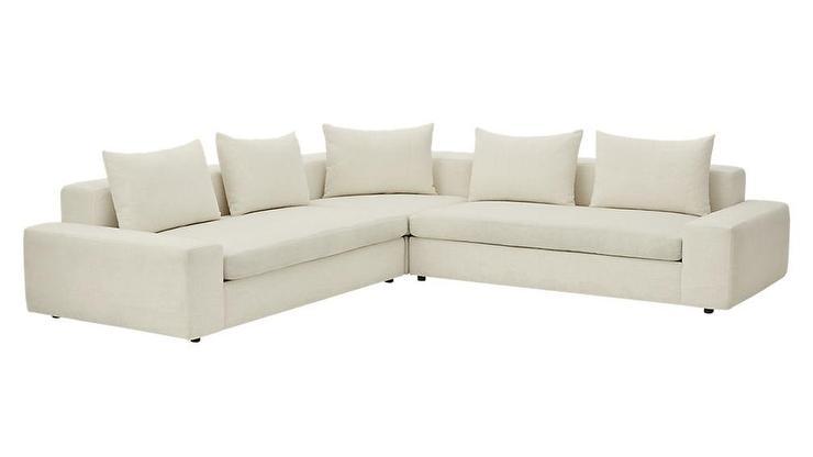 Outstanding Arlo 3 Piece Snow Wide Arm Sectional Sofa Inzonedesignstudio Interior Chair Design Inzonedesignstudiocom