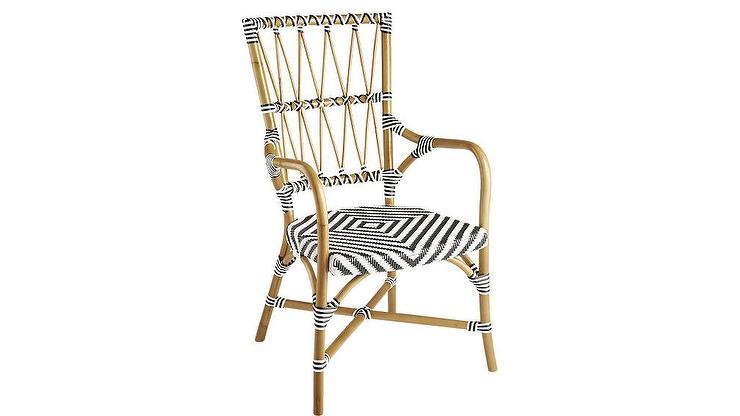 Amazing Criss Cross Black White Rattan Cafe Chair Inzonedesignstudio Interior Chair Design Inzonedesignstudiocom