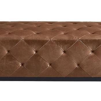 Maddie Brown Leather Ottoman