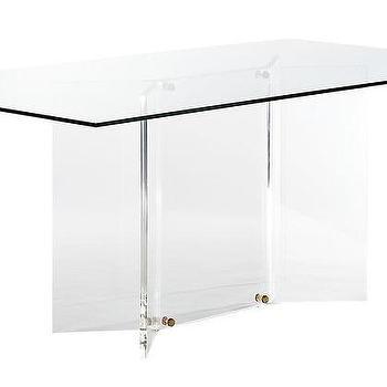 Koryn Round Acrylic Chrome Dining Table