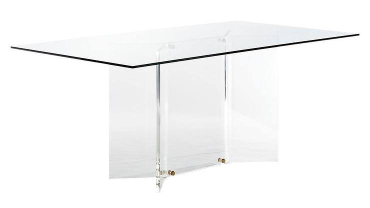 Scarpa Rectangular Glass Acrylic Dining Table