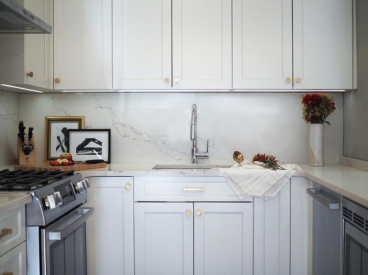 Sink Under Row Of Cabinets Transitional Kitchen