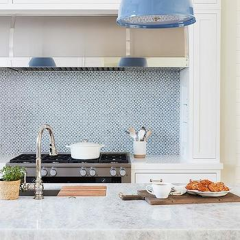 Blue Mosaic Cooking Alcove Tiles