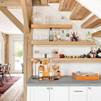 Mini Bar Below Staircase Design Ideas