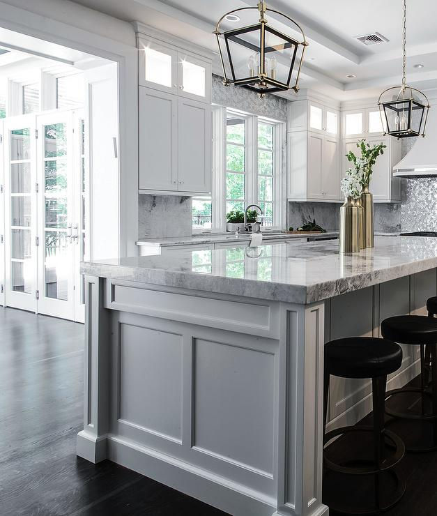 Welcoming White Kitchen Is Illuminated By Regina Andrew: Kitchen Island Sink With Dishwasher
