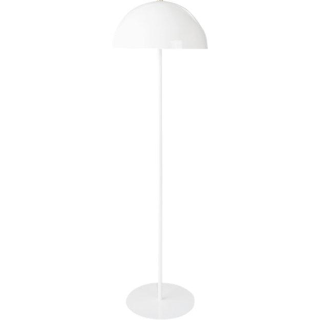 Hanna white dome shade metal floor lamp mozeypictures Choice Image