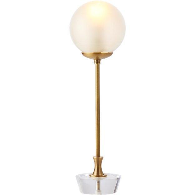 Paragon globe brass acrylic table lamp aloadofball Image collections
