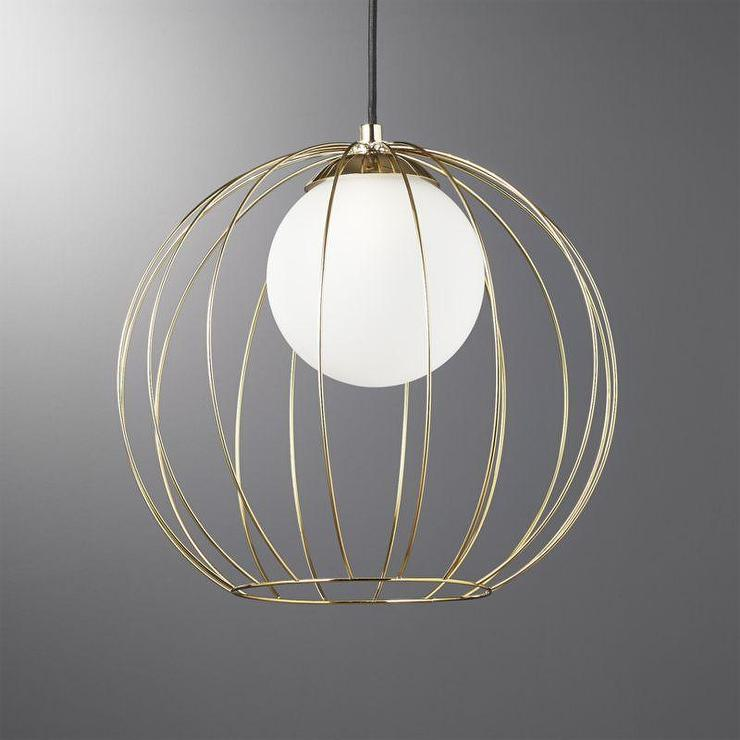 Morningside Drive Brass Globe Pendant
