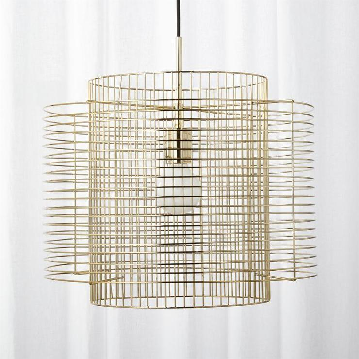 Geometric Overlap Brass Cage Pendant Light
