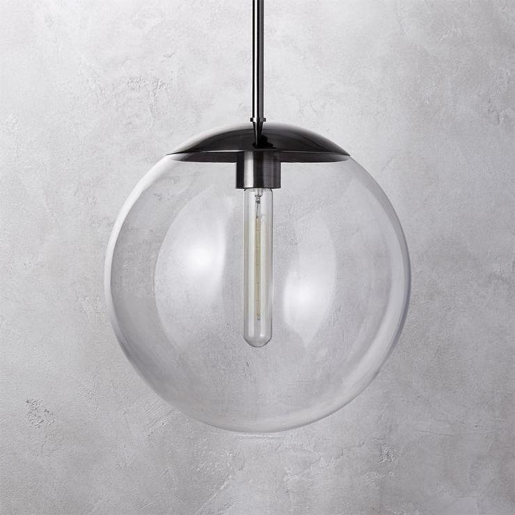 Black nickel glass globe pendant light vega black nickel glass globe pendant light aloadofball Choice Image