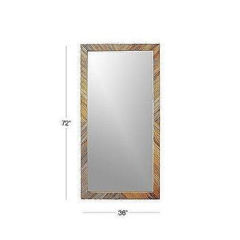 Leaning Reclaimed Wood Floor Mirror