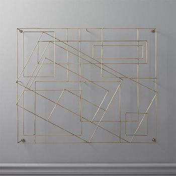 Silver Overlapping Squares Wall Art