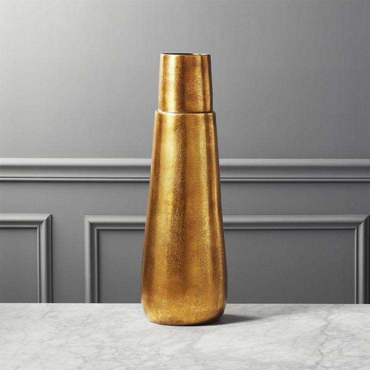 Malta Tall Brass Pillar Vase