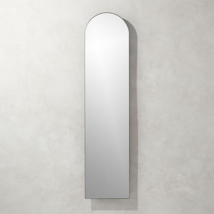 Tall Arched Leaning Floor Mirror