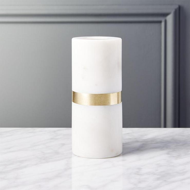 Golden Geometric Hurricane Candle Holder