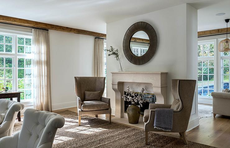 Step Into A Brown And Beige Living Room Theme To Escape The Business Of Day Unwind Around Cozy Classic Furnishings