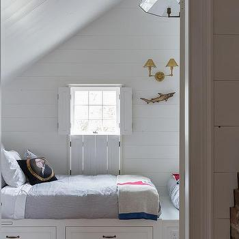 Attic Boys Room With Built In Beds Cottage Boy S Room