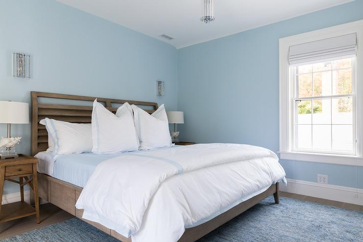 Serene Blue And Brown Bedroom Colors Transitional Bedroom