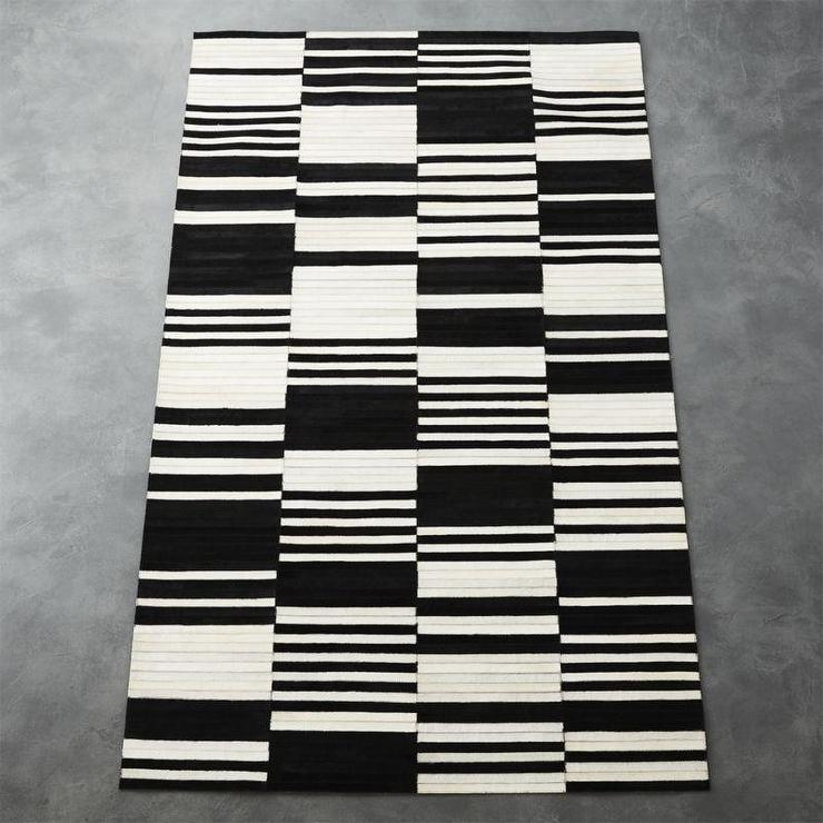 living under in monochrome furniture rugs striped white room the black rug and elegance