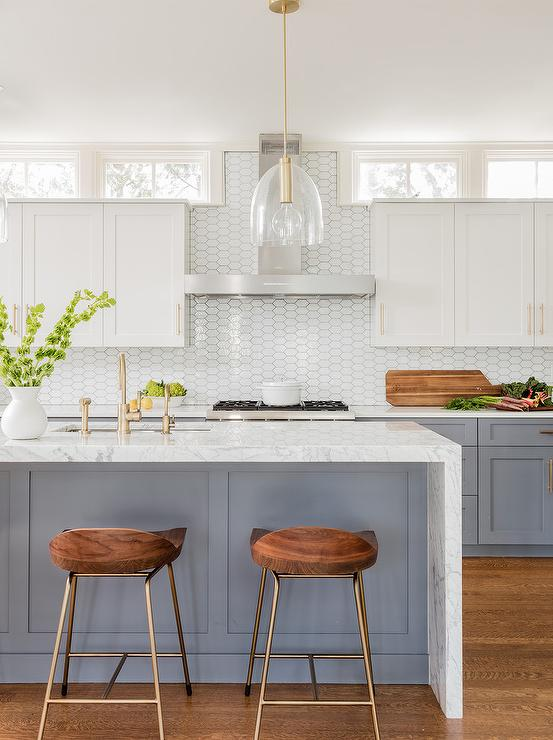 Mirrored Picket Backsplash Tiles Contemporary Kitchen
