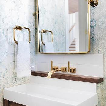 Antique Brass Bath Vanity Pivot Mirror Design Ideas