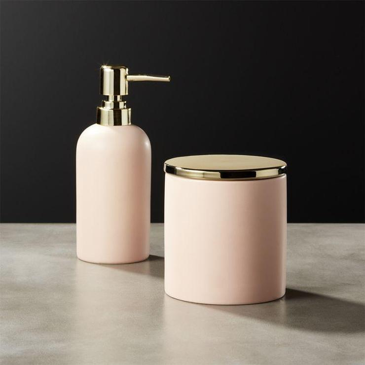 Luxury Pink Bath Accessory Sets