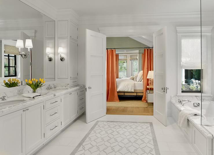 white-and-gray-mosaic-marble-trellis-carpet-bath-tiles Gray Rug Master Bathroom Designs on gray master bedroom decorating ideas, gray master bedroom designs, gray master bathroom decorating ideas,