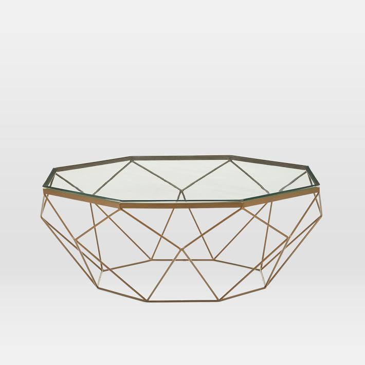 Interlude Home Geometrics Gold Coffee Table