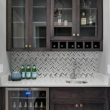 Wet Bar Sink Under Wine Rack Design Ideas